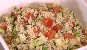 Салат из пшена с овощами