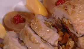 Рождественский мясной рулет