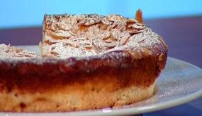 Миндальный торт с итальянским сыром рикотта