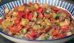 Теплый салат Лечо