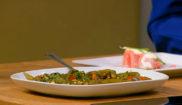 Печеный перец в соево-имбирном соусе