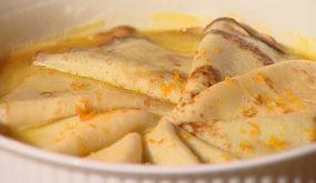 Блинчики в апельсиновом соусе «Креп сюзетт»